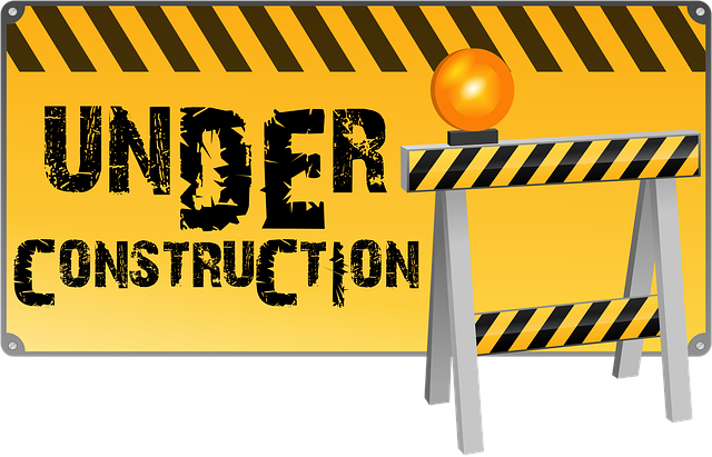 under construction notification for this site.